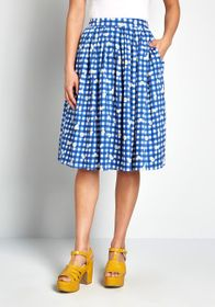 Collectif Collectif Delightfully Demure Midi Skirt
