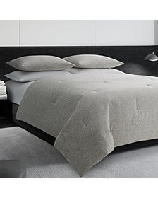 Vera Wang - Cotton Bamboo Leaves Duvet Cover Set,