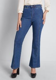 ModCloth ModCloth The Melrose Flared Jeans - Short