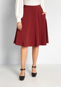 ModCloth ModCloth Just This Sway A-Line Skirt in M