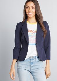 ModCloth ModCloth Timeless Tailoring 3/4 Sleeve Bl