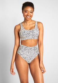 The Kaylan High-Waisted Bikini Bottom Leopard