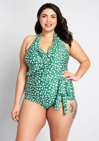 ModCloth ModCloth The Reese One-Piece Swimsuit Gre