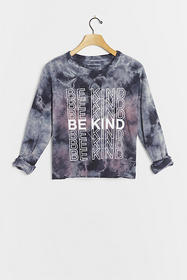 Anthropologie Be Kind Tie-Dye Graphic Pullover