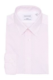 Calvin Klein Diamond Print Slim Fit Dress Shirt