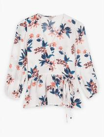 Lucky Brand Floral Printed Charlie Wrap Top