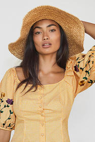 Anthropologie Amabella Embroidered Blouse