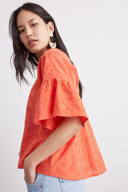 Anthropologie Rory Embroidered Blouse