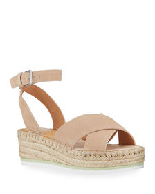 Dolce Vita Lacy Suede Espadrille Wedge Sandals