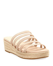 Pelle Moda Selby Strappy Cage Wedge Espadrilles