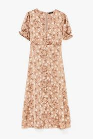 Nasty Gal Brown Grow Where You Stand Floral Satin