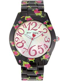 Betsey Johnson Printed Roses Watch