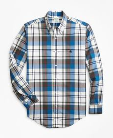 Brooks Brothers Milano Fit Bold Plaid Zephyr Sport