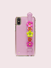Kate Spade floral iphone x & xs handstrap stand ca