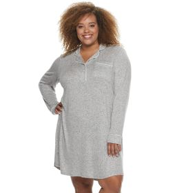Plus Size Sonoma Goods For Life® Notch Collar Slee