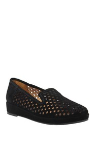 L'Amour Des Pieds Clemence Perforated Wedge Loafer