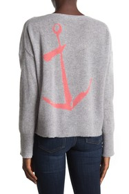 360 Cashmere Greyson Anchor Graphic Cashmere Sweat