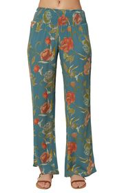 O'Neill Johnny Floral Smocked Wide Leg Pants