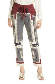REISS Imogen Mixed Check Trousers