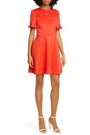 Ted Baker London Lace Inset Skater Dress