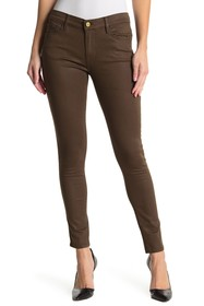 FRAME Le Skinny de Jeanne Coated Jeans