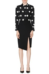 SUISTUDIO Alec Polka Dotted Silk Blouse