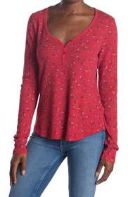 Michael Stars Nadine Floral Long Sleeve Thermal He