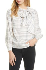 TAILORED BY REBECCA TAYLOR Etched Plaid Silk Blend