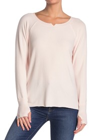 Michael Stars Notch Boatneck Long Sleeve High/Low