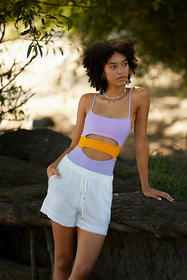 Anthropologie L Space Maxwell Cut-Out One-Piece Sw