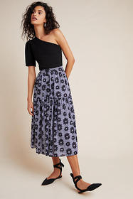 Anthropologie Kendall Tiered Maxi Skirt