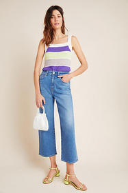 Anthropologie CQY Sunday Ultra High-Rise Cropped W