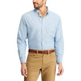 Big & Tall Chaps Solid Oxford Casual Button-Down S