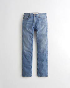 Hollister Classic Straight Jeans, LIGHT WASH