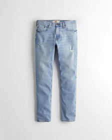 Hollister Slim Straight Jeans, Ripped Super Light