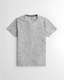 Hollister Must-Have Crewneck T-Shirt, LIGHT HEATHE