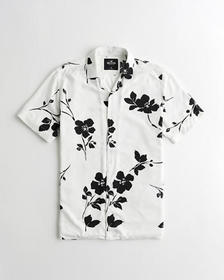 Hollister Hollister Summer Shirt, WHITE FLORAL