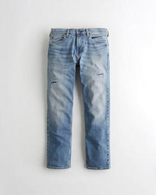 Hollister Classic Straight Jeans, RIPPED AND REPAI