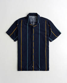 Hollister Hollister Summer Shirt, NAVY STRIPE