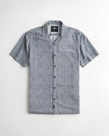 Hollister Hollister Summer Shirt, DARK GREY PLAID
