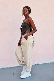 Nasty Gal Stone Tie and Find Out High-Waisted Jogg