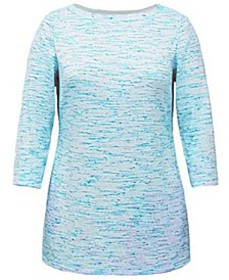 Space-Dyed Boat-Neck Tunic Top, Created for Macy's