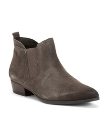 NATURALIZER Wide Suede Comfort Booties