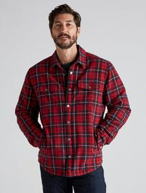 Lucky Brand Plaid Sherpa Shirt Jacket