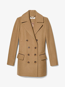Michael Kors Wool Blend Double Breasted Peacoat