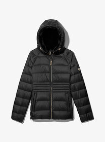 Michael Kors Fur Lined Quilted Nylon Puffer Jacket