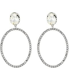 Nina Large Open Oval Pave Earrings