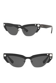 MIU MIU 59mm Modern Cat Eye Sunglasses
