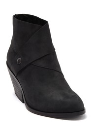 Eileen Fisher Tag Leather Block Heel Bootie