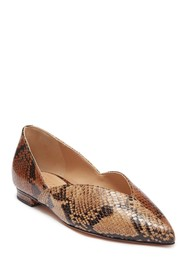 Schutz Katiely Leather Snakeskin Print Loafer